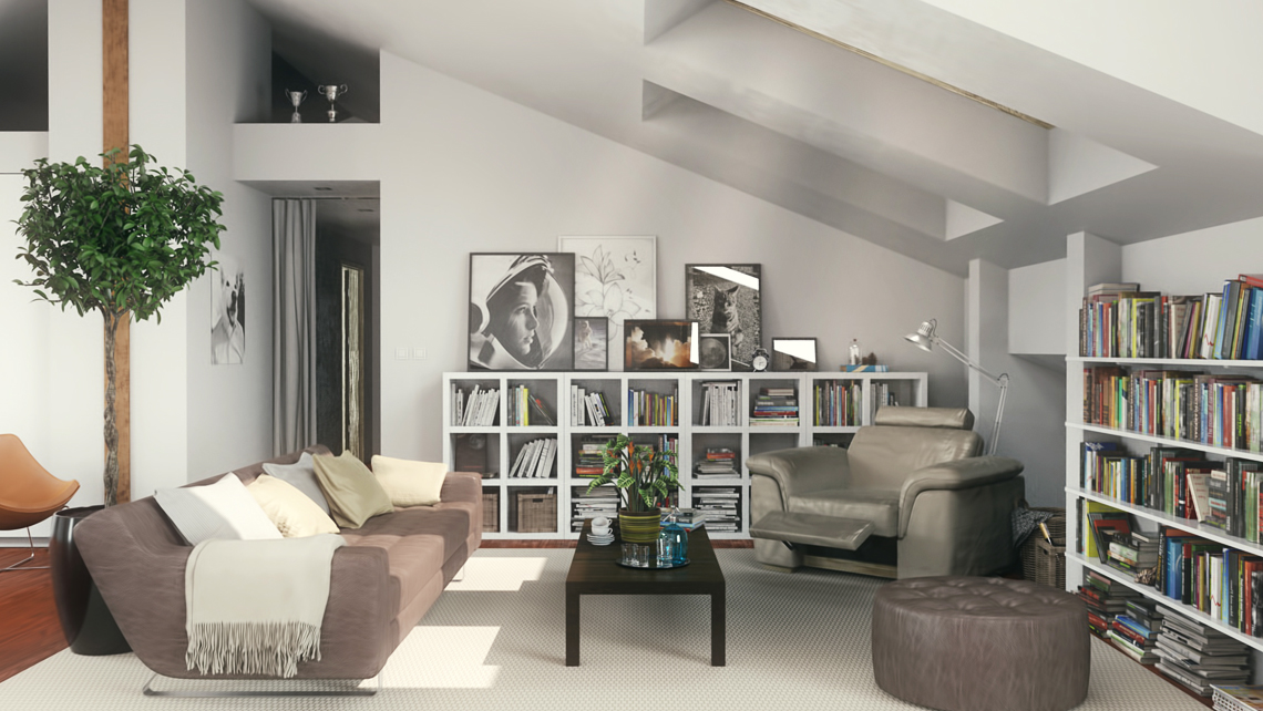 residential interior render