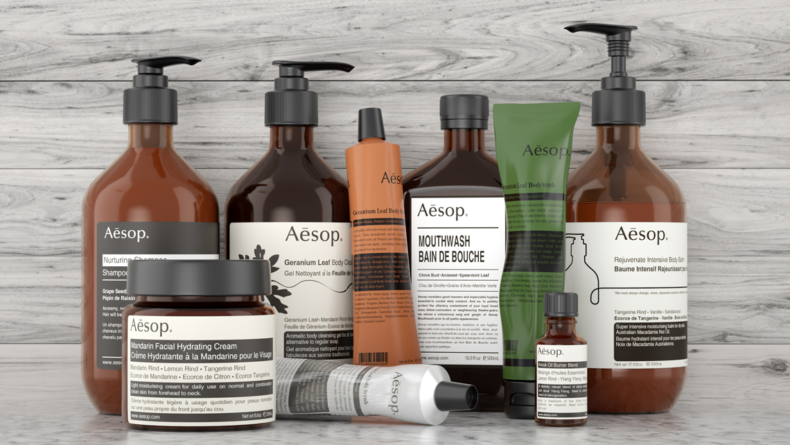 Aesop family product shot